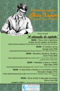 XVII Semana Espírita Chico Xavier - cartaz 2